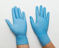 Перчатки нитриловые неопудренные, размер М, UNEX, упаковка 50 пар, синие