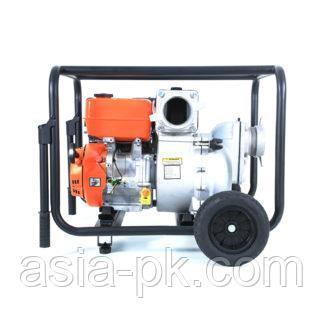 Мотопомпа бензиновая для грязной воды Tarlan TWP 100TМ с колесами