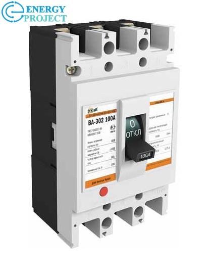 Автоматический выключатель ВА 302 3П 100А Dekfaft