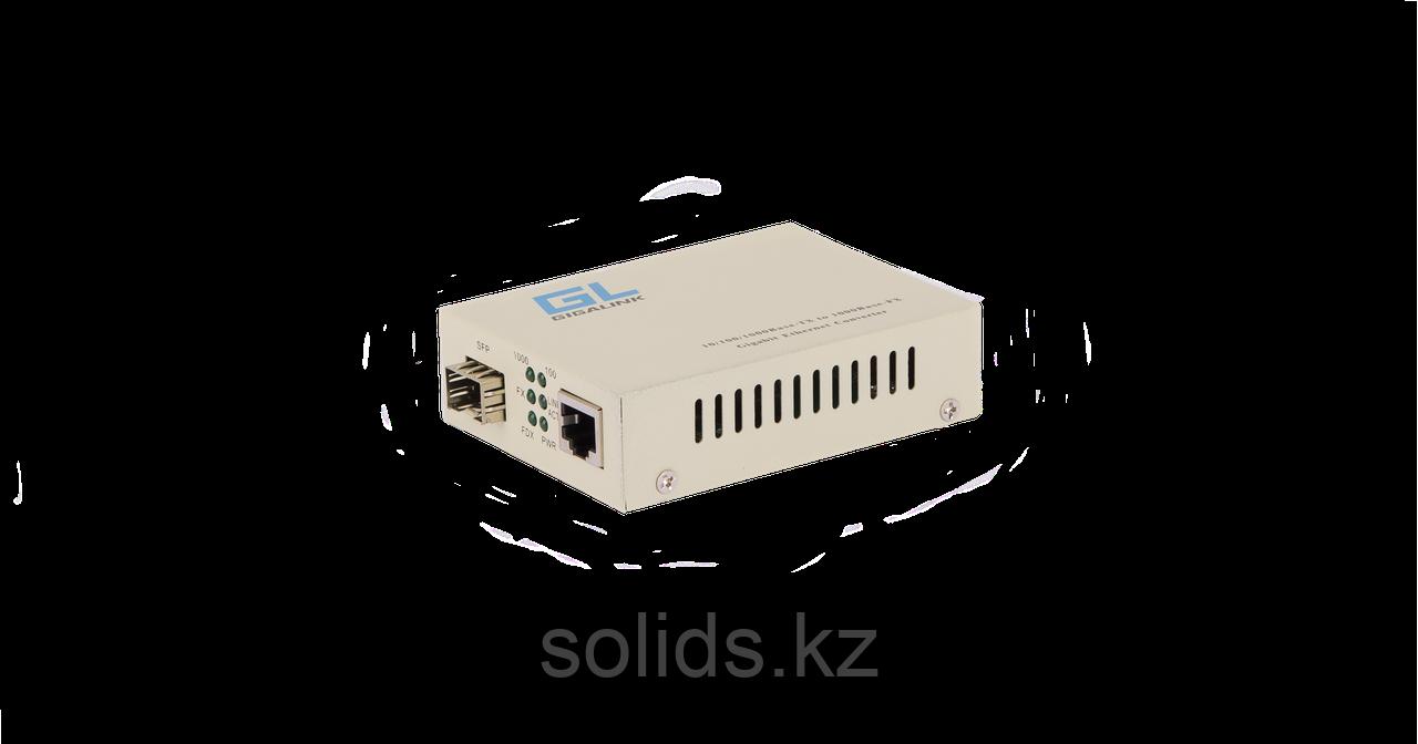 Конвертер GIGALINK UTP-SFP, 10/100/1000Мбит/с в 1000Мбит/с, шт