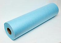Простыни одноразовые, спанбонд 18 гр/м2, голубой 200м*80см, рулон с перфорацией (100 шт.)