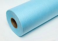 Простыни одноразовые, спанбонд 40 гр/м2, голубой 200м*80см, рулон с перфорацией (100 шт.)