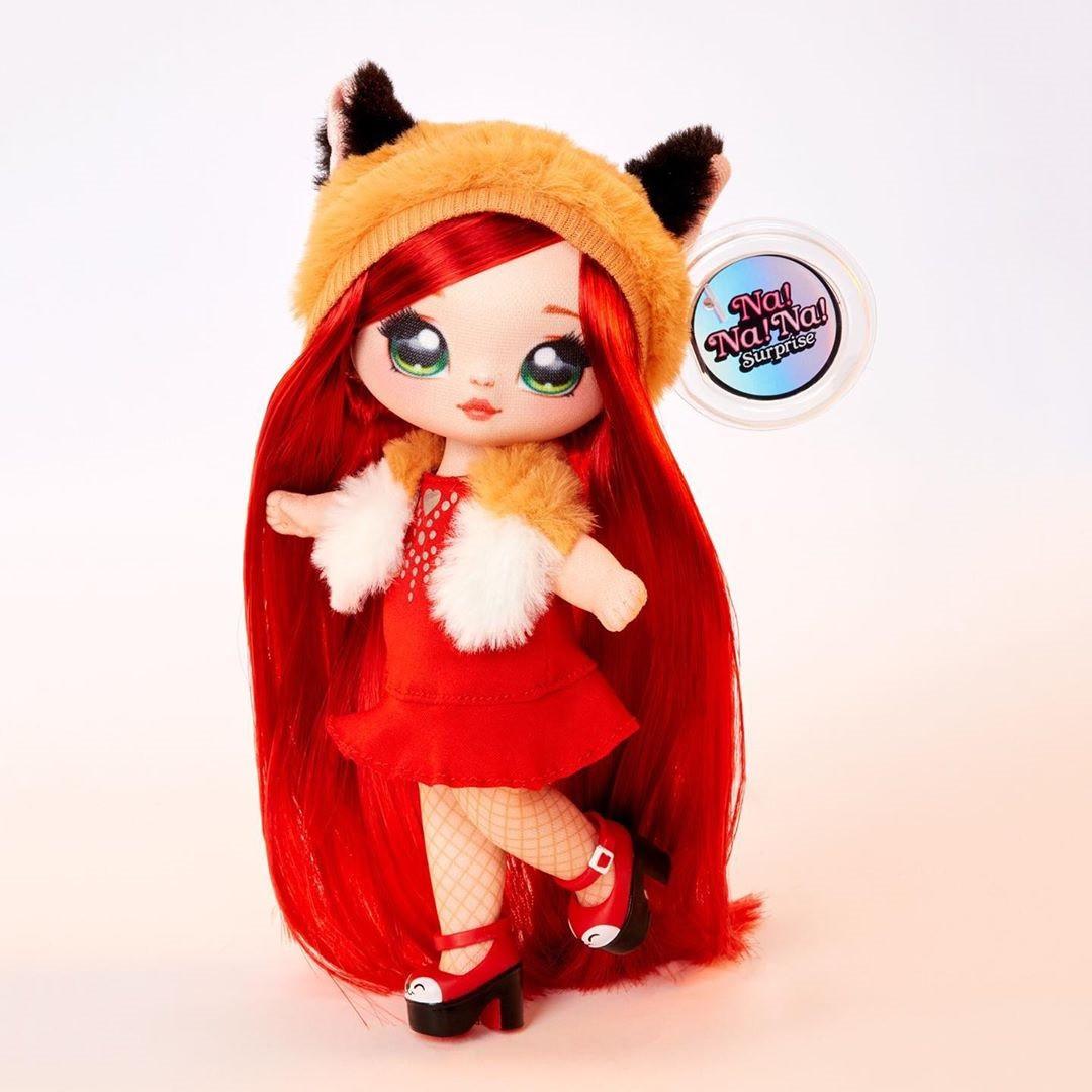 NA! Na! Na! Surprise - мягкие куклы с животным-помпоном-сумочкой Roxie Foxy (лиса) от MGA - фото 1