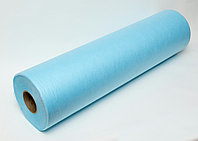 Простыни одноразовые GKS, ламинированный спанбонд 42 гр/м2, голубой 200м*80см, рулон без перфорации