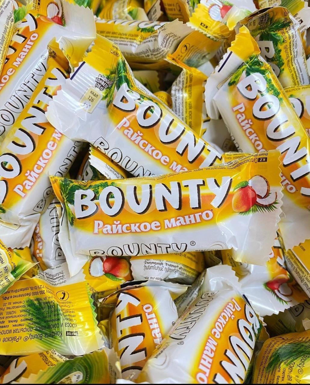 """Шоколадные батончики Bounty minis (Баунти мини) """"Райское манго"""" 1кг /на вес/"""