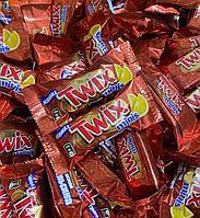 """Шоколадные батончики Twix minis (Твикс мини) """"Апельсин"""" 1кг /на вес/"""