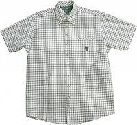 Мужская рубашка с коротким рукавом бежевая (45/46)