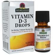 Nature's Answer, Витамин D-3 в каплях, 4000 МЕ, 15 мл, фото 3