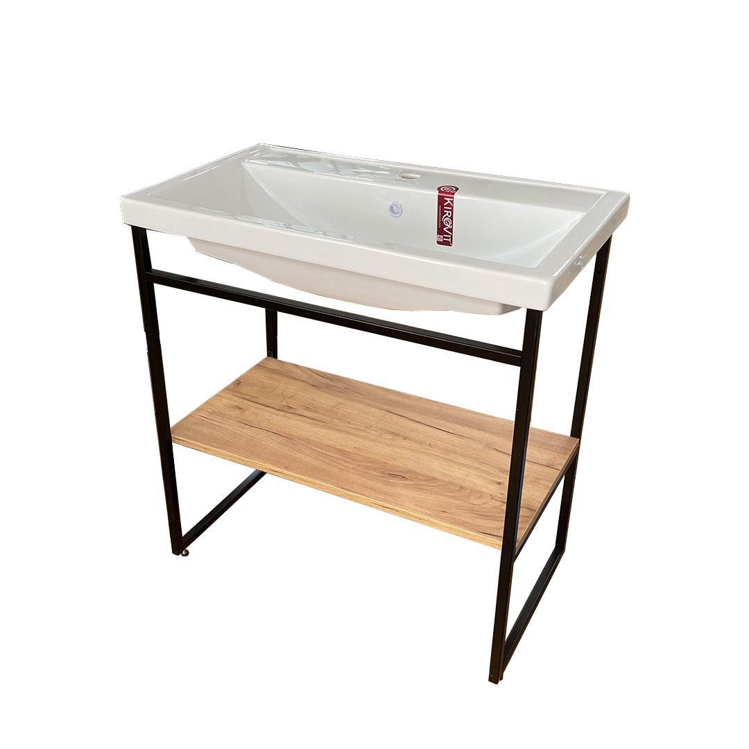 Тумба для ванной «Акваль Юнит» 80 см. Умывальник Фостер 80