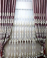 Шторы Элит 10107 розовый 300х280 см