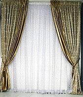 Шторы Уют 20101 золотистый 300х280 см