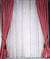 Шторы Уют 20102 розовый 300х280 см