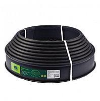 Лента бордюр полиэтиленовая черная 10 х 1000 см Сибртех 64550 (002)