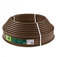 Лента бордюр полиэтиленовая коричневая 10 х 1000 см Сибртех 64551 (002)