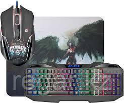 Комплект игровой Defender Reaper MKP-018 RU, мышь+клавиатура+ковер