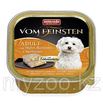 Vom Feinsten Adult с курицей бананом и абрикосами для собак, 150 гр