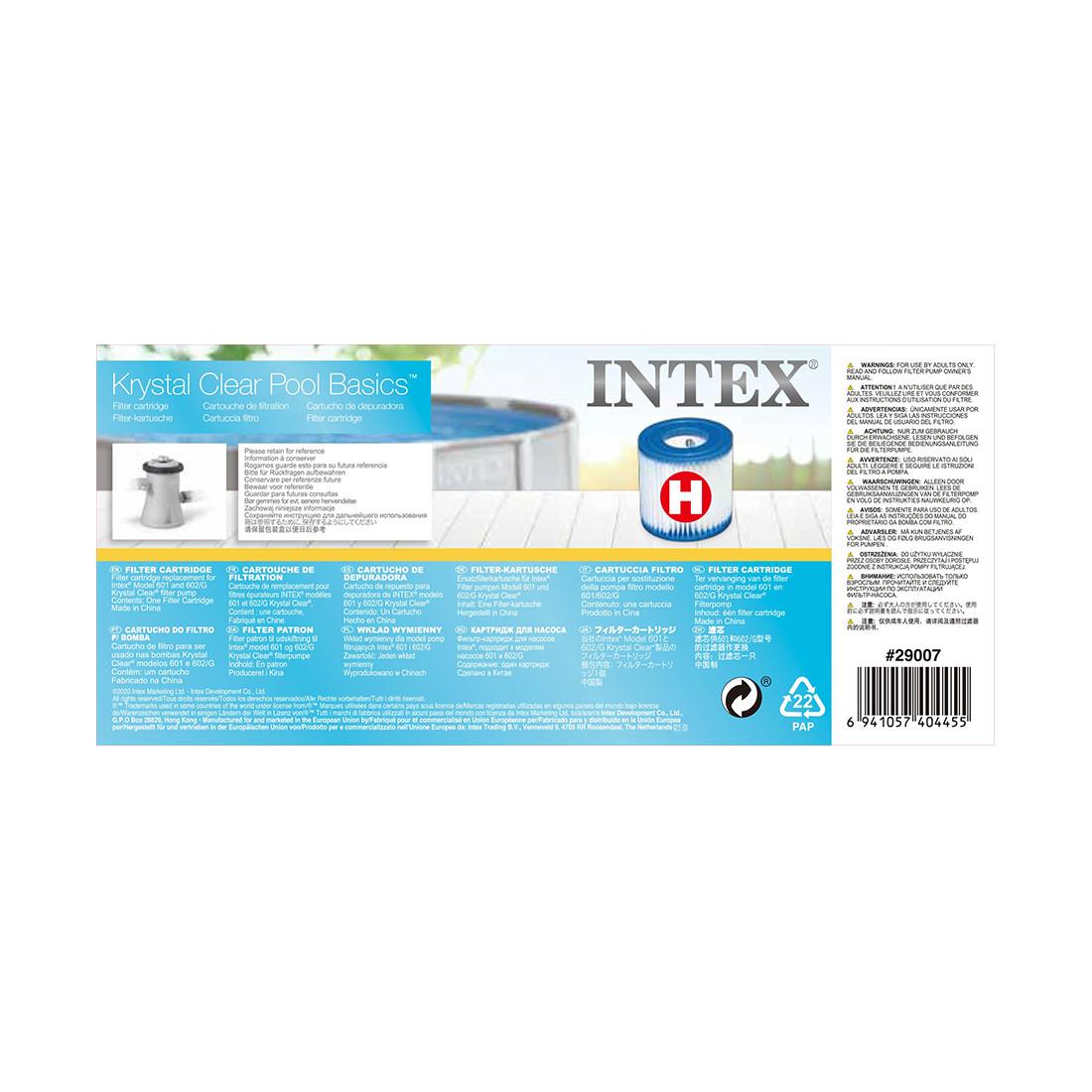 Картридж для фильтра Intex 29007