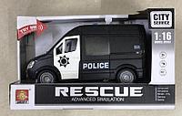 Машинка инерционная Police Бус черный серии WY590C 1:16