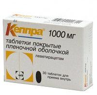 Кеппра 1000 мг №30 таб.