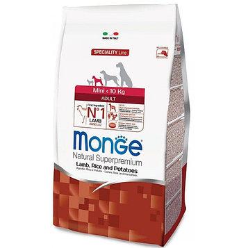 Monge Корм для взрослых собак мелких пород, Ягненок и рис
