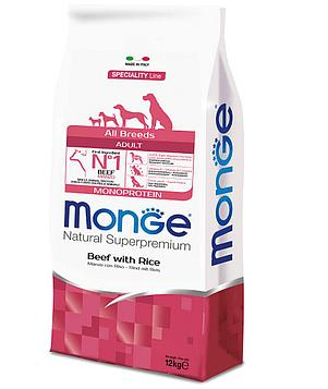 Monge Dog Корм для собак всех пород, Говядина и рис