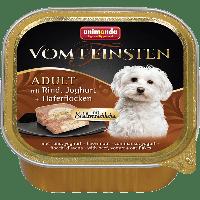 """Консервы Vom Feinsten Adult """"Меню для гурманов"""" с говядиной, йогуртом и овсяными хлопьями-150гр."""