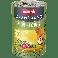 Консервы Grand Carno Superfoods с курицей + шпинат, малина, тыквенные семечки-400гр.