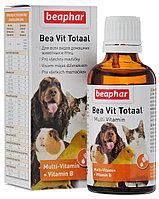 Bea Vit Total multi-Vitamin комплекс витаминов для всех домашних животных во время линьки, Beaphar - 50 мл