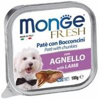 Monge Fresh Pate with Chunkies Lamb, влажный корм для собак с ягненком, 100 гр