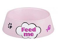 """Миска """"Феликс"""" для кошек розовая 0,3 л 14,5*14,5*4 см4102950"""