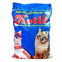 """""""Котик"""" наполнитель антибактериальный комкующийся натурель 10 кг."""