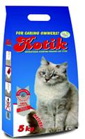 """""""Котик"""" наполнитель антибактериальный комкующийся натурал (в пакете) 5 кг"""