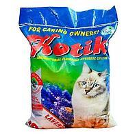 """""""Котик"""" наполнитель антибактериальный комкующийсяс лавандой 10 кг."""