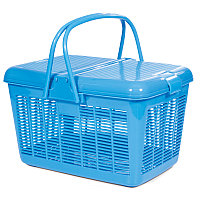 TRIOL Переноска 1005-2 для животных S квадратная голубая 380*270*230 мм АРТ 31831002