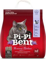 Pi-Pi-Bent Нежный Прованс Комкующийся наполнитель для кошек, 5 кг