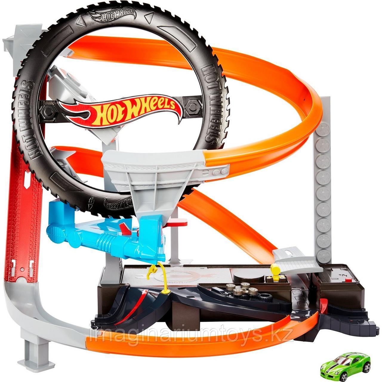 Трек Hot Wheels моторизованный «Шиномонтажная мастерская» - фото 2