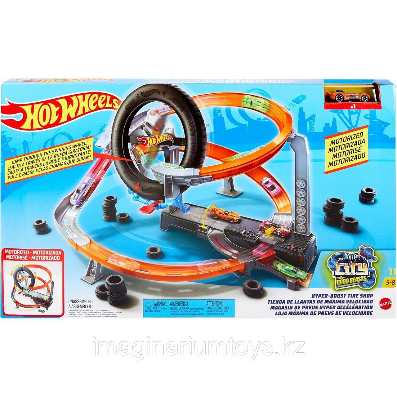 Трек Hot Wheels моторизованный «Шиномонтажная мастерская» - фото 1