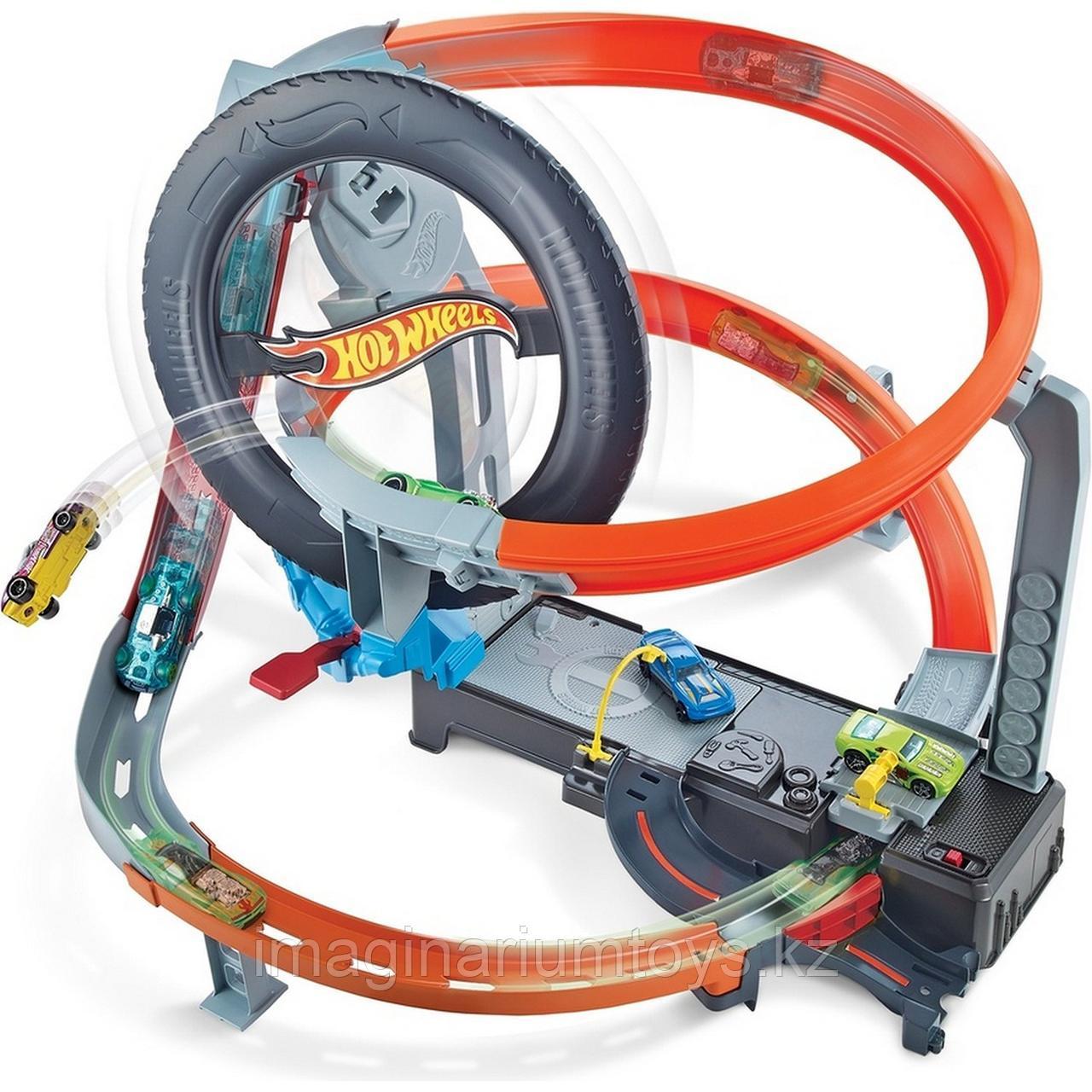 Трек Hot Wheels моторизованный «Шиномонтажная мастерская» - фото 8