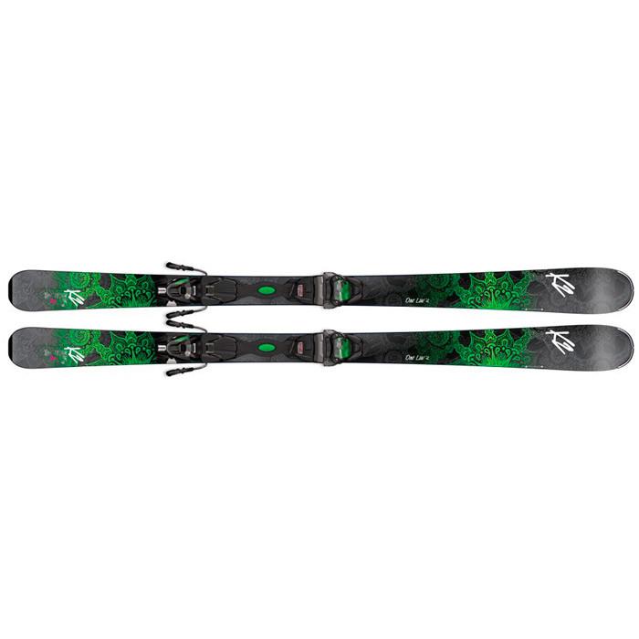 K2  лыжи горные One Luv 74 ER3 10 Compact Quikclik black-green