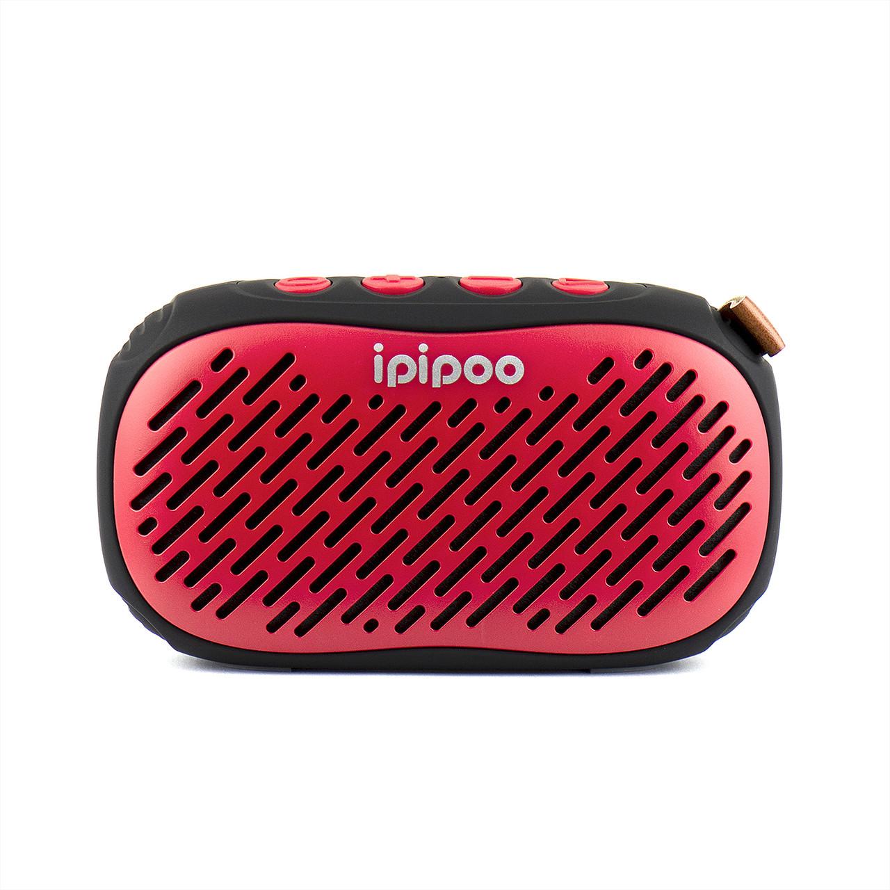 Портативная акустическая система Bluetooth ipipoo YP-6 Waterproof Red