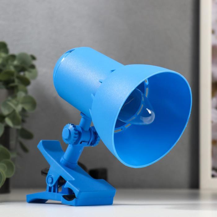 Светильник настольный на прищепке Надежда 1- мини  Синяя лазурь