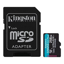 Kingston SDCG3/256GB карта памяти 256GB microSDXC Go U3 V30 Card + ADP