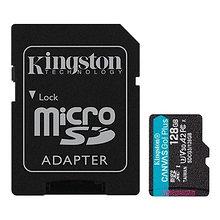 Kingston SDCG3/128GB карта памяти 128GB microSDXC Go U3 V30 Card + ADP