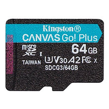 Kingston SDCG3/64GBSP карта памяти 64GB microSDXC Go U3 V30 Card без адаптера