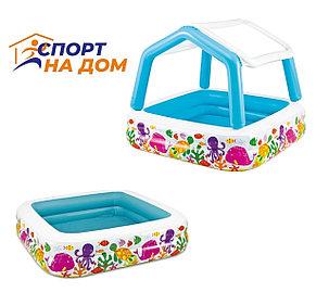 Надувной детский бассейн Intex 57470 (Габариты: 157 х 157 х 122 см, на 280 литров), фото 2