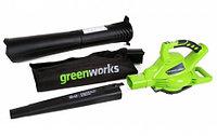 Воздуходувка Greenworks GD40BV (без батареи и зарядного устройства) (24227)