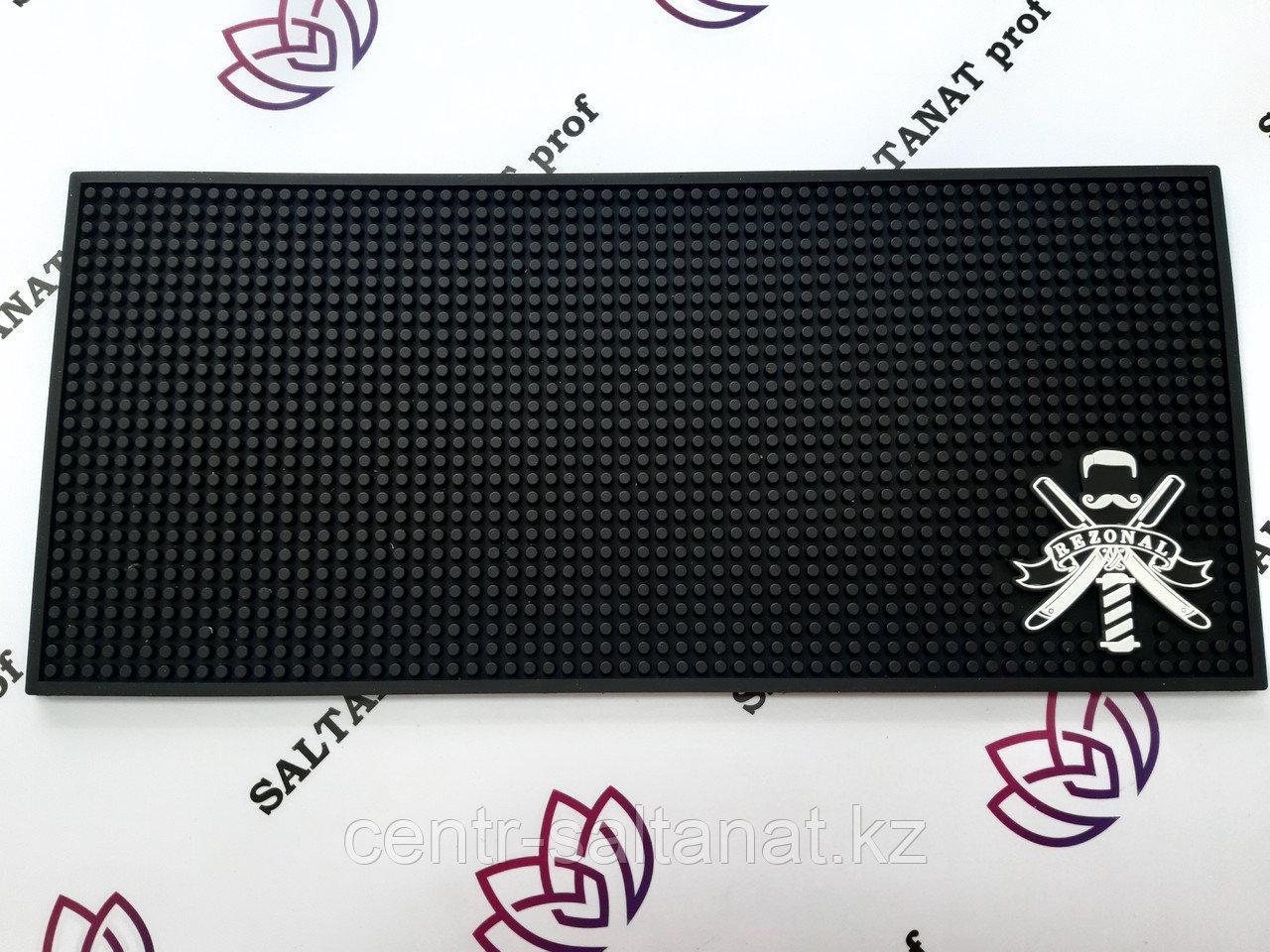 Резиновый антискользящий коврик для барбера 20x45 см
