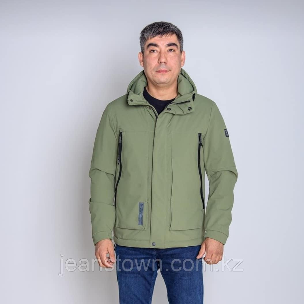 Куртка мужская  демисезонная Vivacana  зеленая короткая