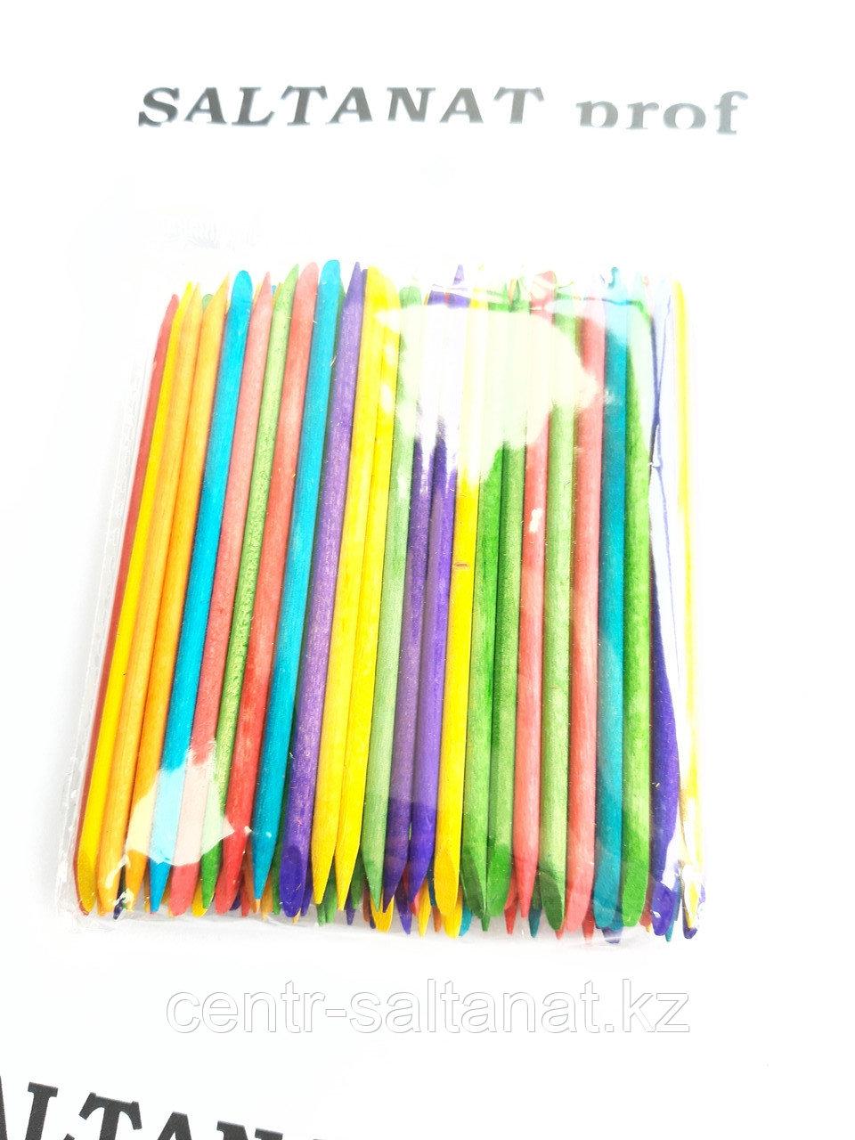 Апельсиновые палочки 50 шт для маникюра цветные