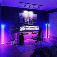 Угловой Led торшер, лед лампа, лед ночник, RGB подсветка, 1.5м